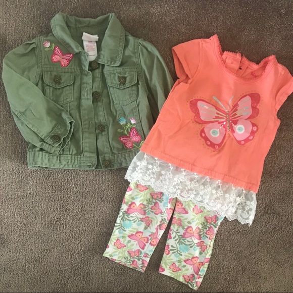 Nannette kids butterfly outfit 24 months
